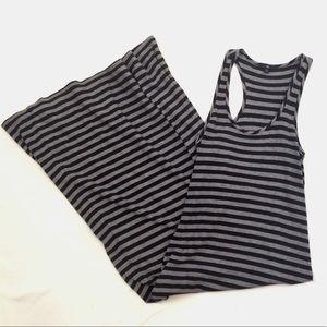 GAP Striped Sleeveless Racerback Pima Maxi Dress